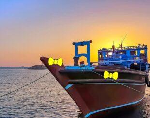 حمل بار از دبی به بندر نخل تقی با لنج باری