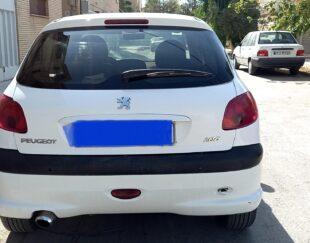 خودرو 206 تیپ 5 سفید مدل 1394